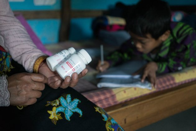 The ART is the drug regimen for managing HIV. Photo by Mark Antony:World Vision India.