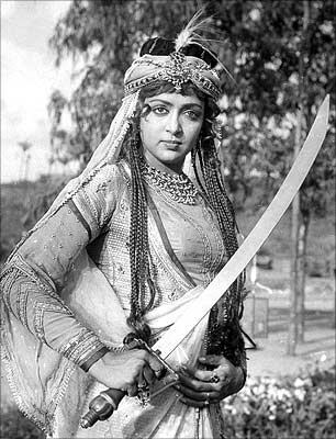 Hema Malini in the title role of Razia Sultan (1983)