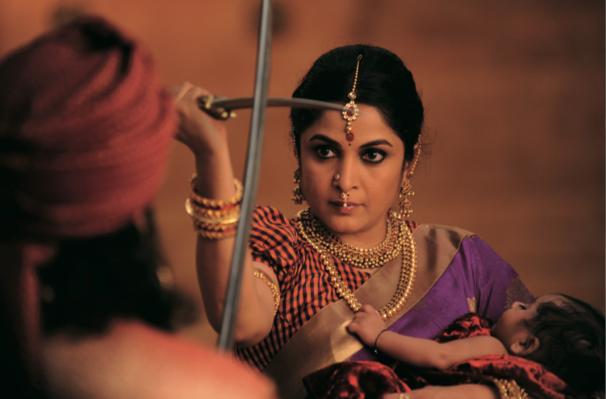 Ramya Krishnan as the tough-as-nails queen Sivagami in Baahubali